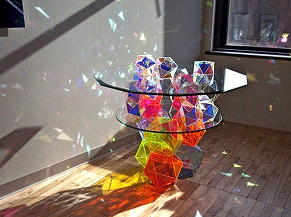Colorful glass bar tables 6