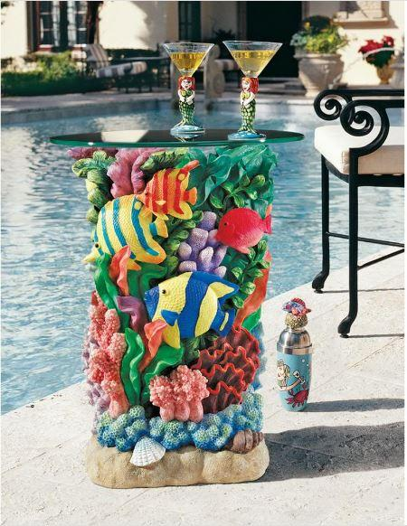Colorful glass bar tables 7