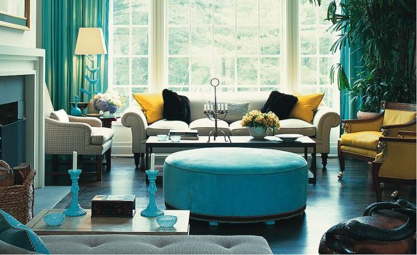 turquoise living room decor