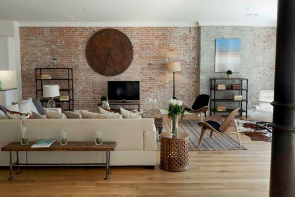 Exposed Brick Wall Design Ideas 2