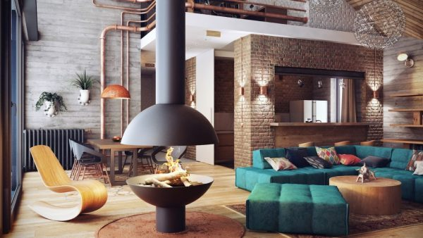 exposed-brick-wall-design-ideas