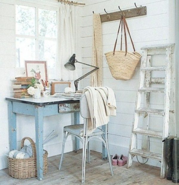 cool shabby chic home office decor | Shabby chic home office - Little Piece Of Me