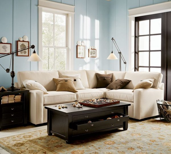 Simply homedecor best place to find your designing home - Brown and blue living room ...