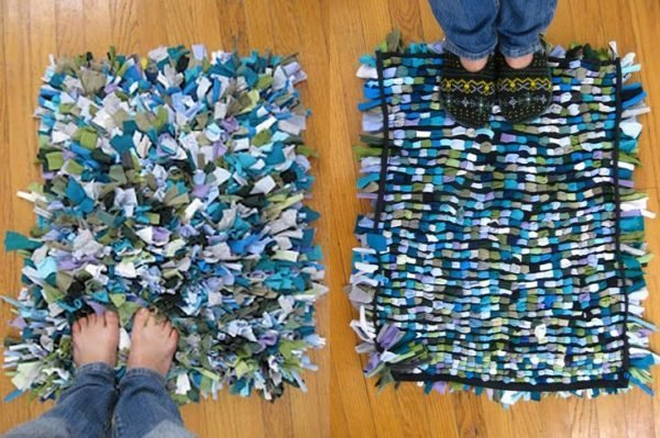how to make a cheap area rug