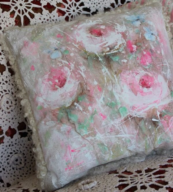 fabric painting on pillow covers