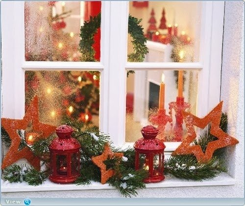 window decorating ideas for christmas little piece of me. Black Bedroom Furniture Sets. Home Design Ideas
