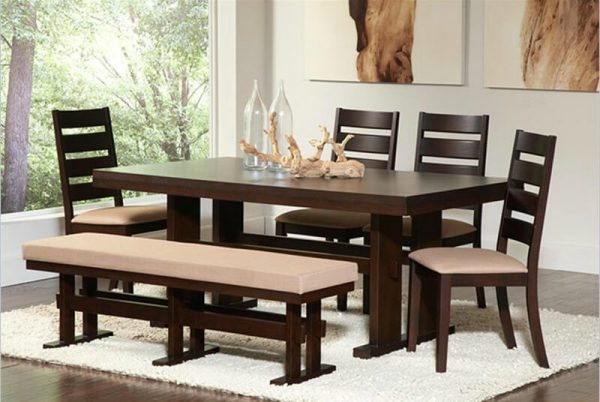Modern wood dining room tables LittlePieceOfMe : modern dark wood dining table 600x402 from www.littlepieceofme.com size 600 x 402 jpeg 48kB