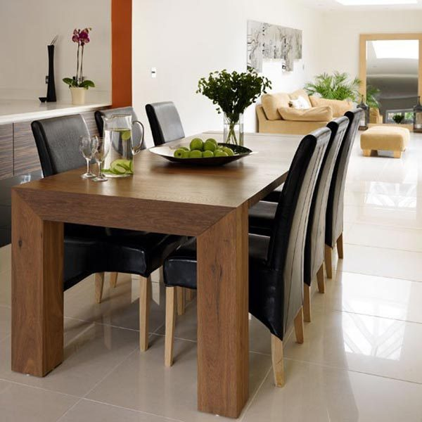 Modern wood dining room tables little piece of me - Dining table design images ...