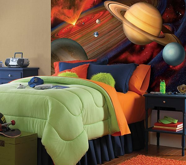 galaxy themed room
