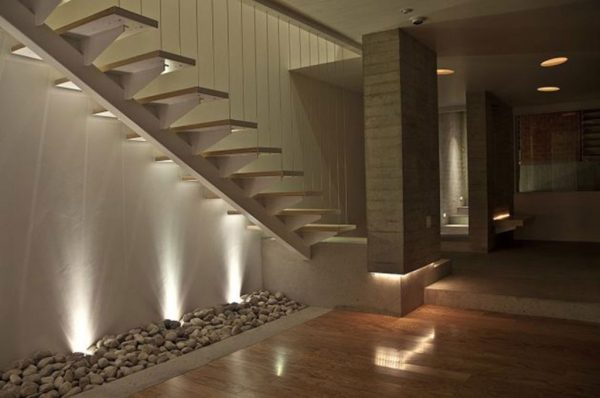 Modern stair lighting
