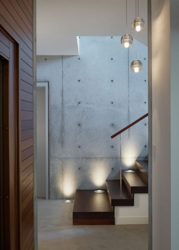 Modern Staircase Lighting Design Glass Pendant Lamp Impressive Track Stair  Interior Home Plan Ceiling