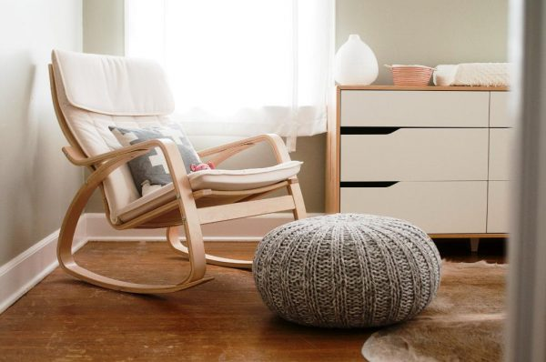 modern wood rocking chair