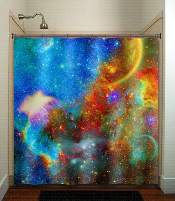 galaxy bathroom decor