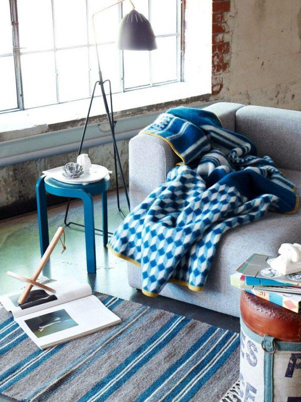navy blue blankets and throws