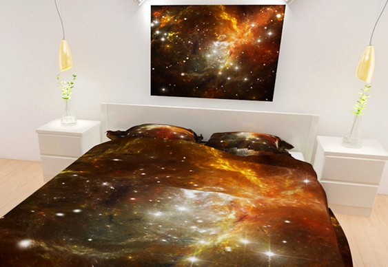 galaxy themed bedroom