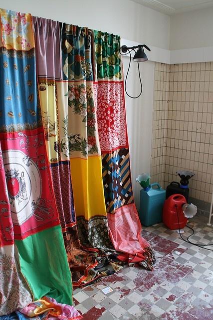 curtain scarf designs