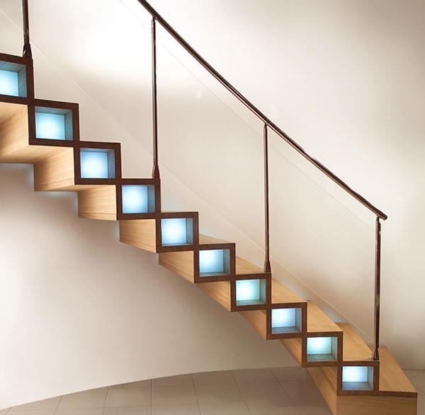 Lighting Basement Washroom Stairs: 14 Modern Stair Lighting Ideas