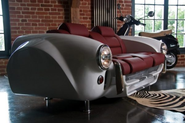Car parts made into furniture
