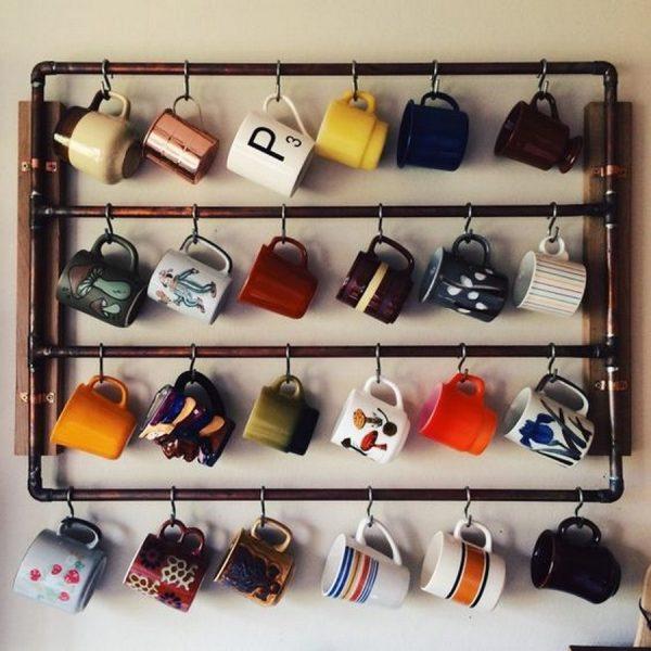 Diy cup rack
