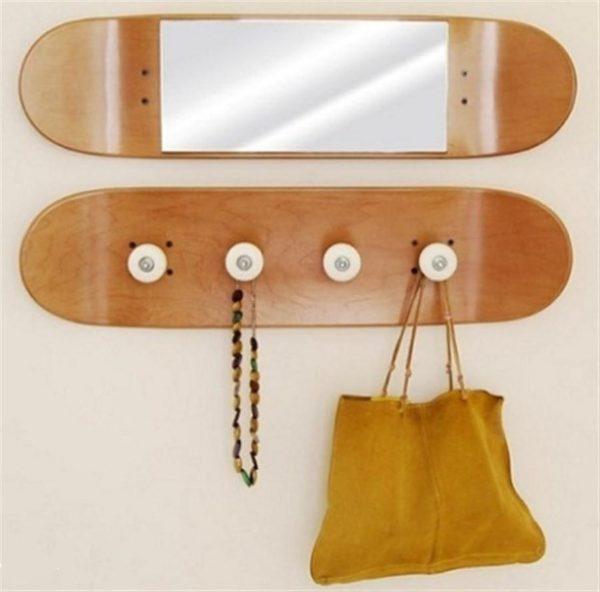 skateboard coat rack