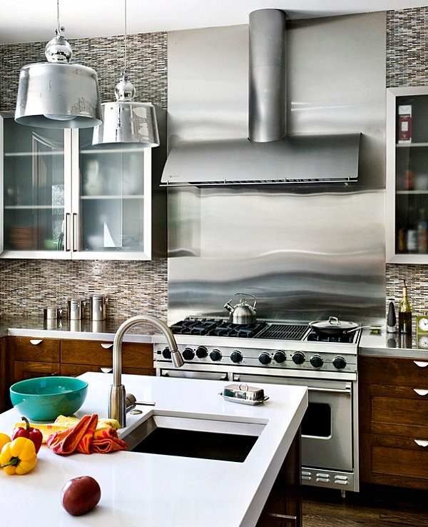 stainless steel kitchen decor