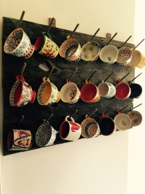wall hanging cup holders