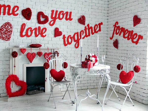 happy valentines day decoration