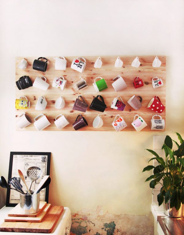 coffee mug holder rack