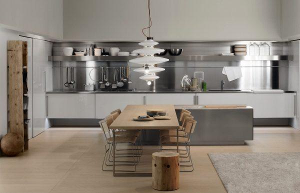 Stainless steel kitchen design ideas 2