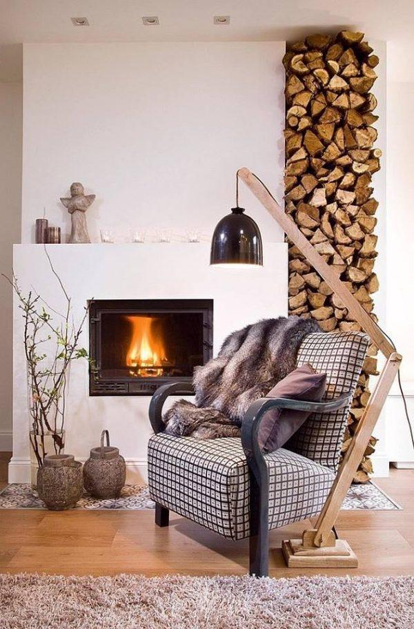 wood holder for inside fireplace