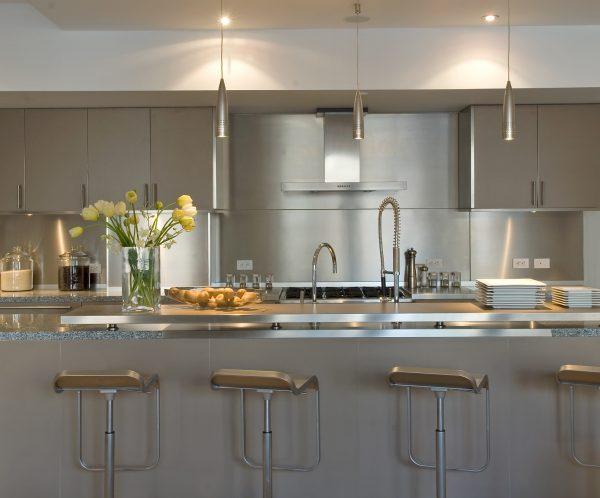 Stainless steel kitchen design ideas