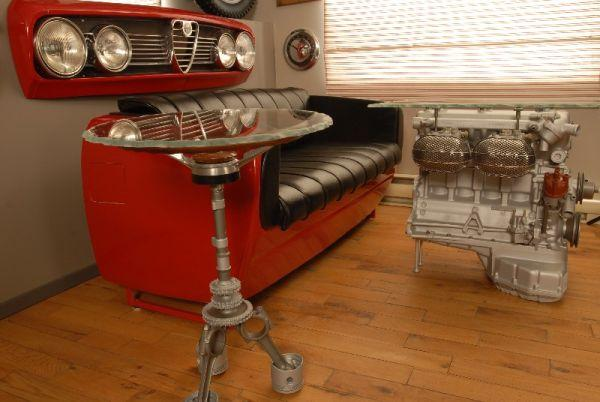 Car parts made into furniture little piece of me Custom furniture made car parts