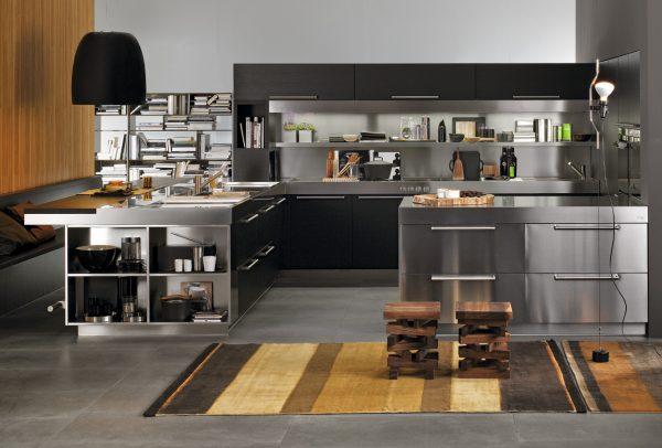 Stainless steel kitchen design ideas 1