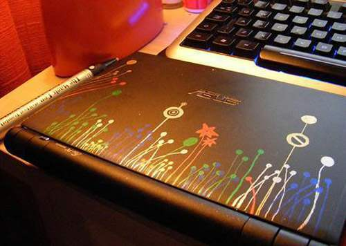 Diy laptop decor 1