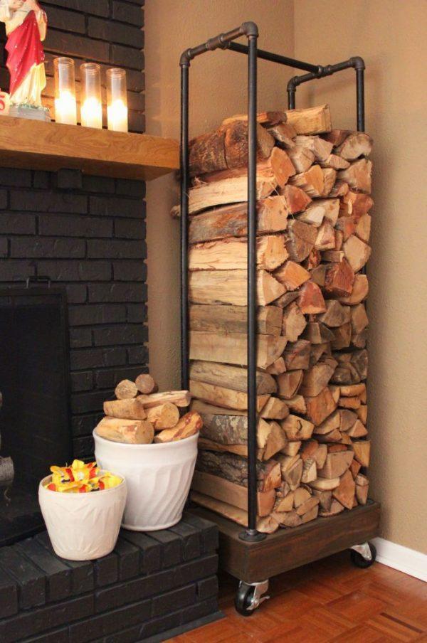 wood storage rack ideas