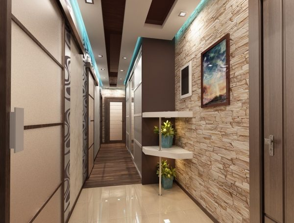 modern hallway lighting