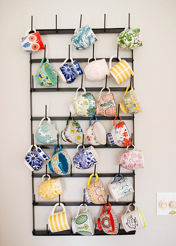 coffee mug hanging rack