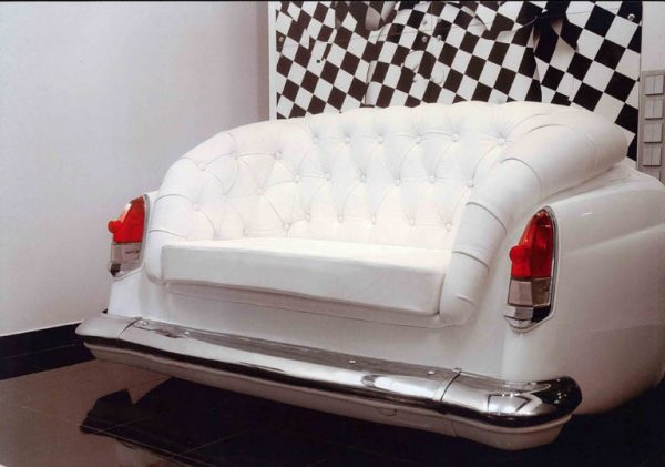 Car parts made into furniture 2