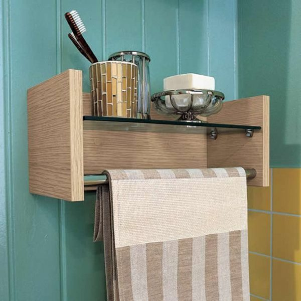 small wall shelf for bathroom