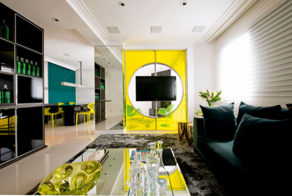 Glossy furniture for living room