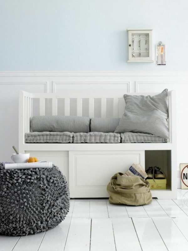 front entry bench with storage