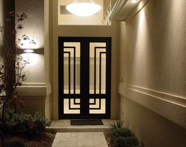 decorative front doors with glass
