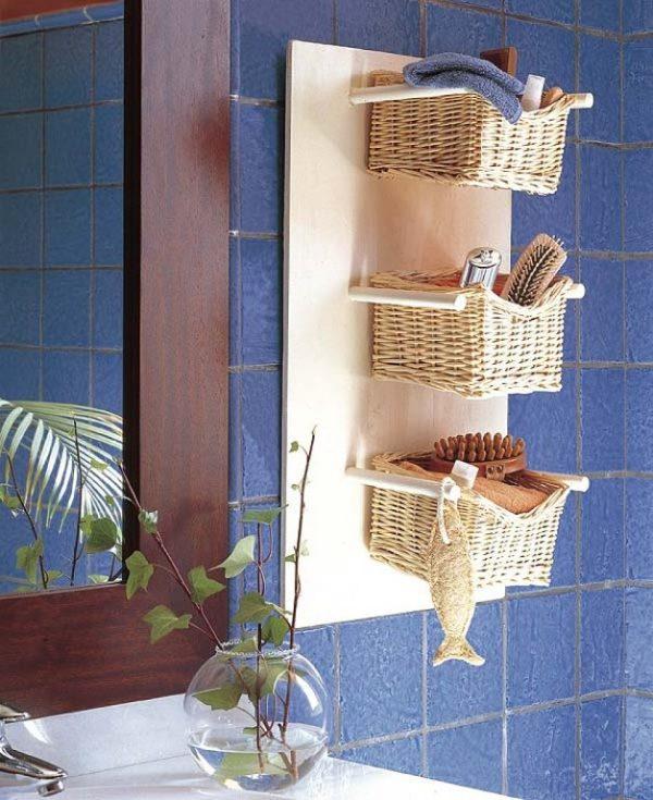 wicker baskets for bathroom