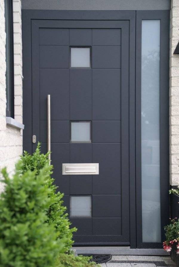 steel front doors with glass