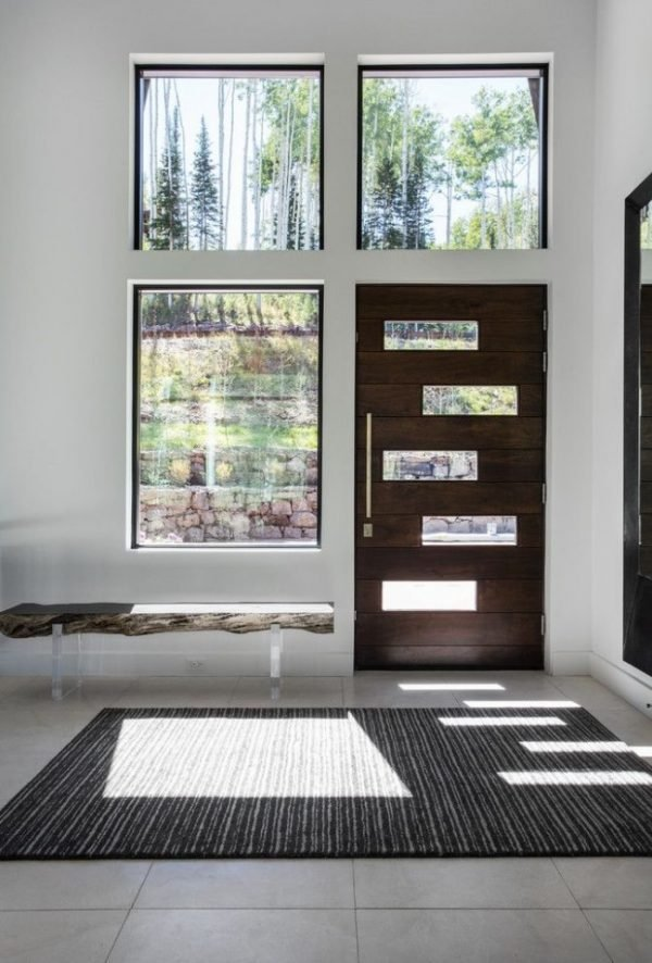 wood front entry doors with glass
