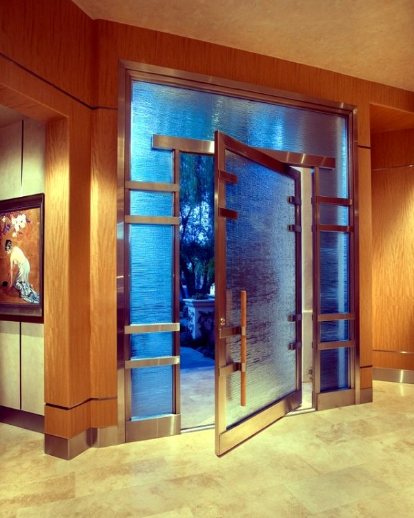 steel and glass entry doors