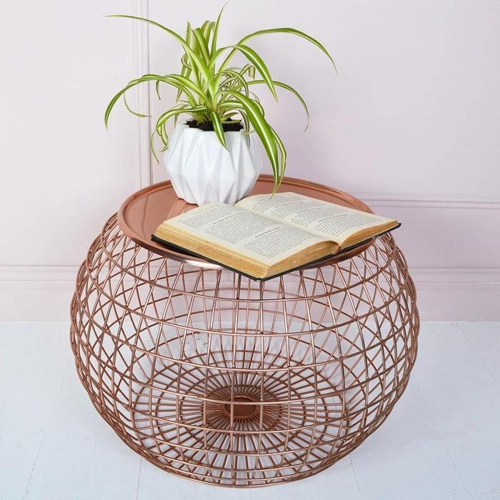 Coffee Table With Baskets: Wire Basket Coffee Table