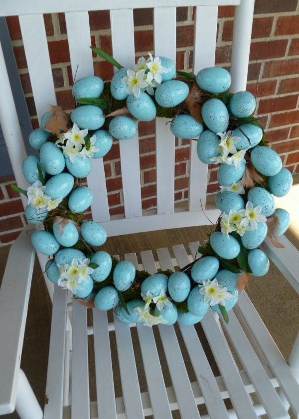 easter egg wreath diy