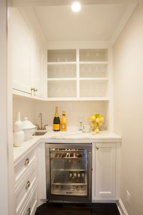 Beverage Bar In Kitchen