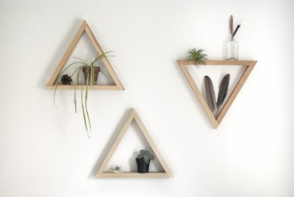 triangle shelf unit